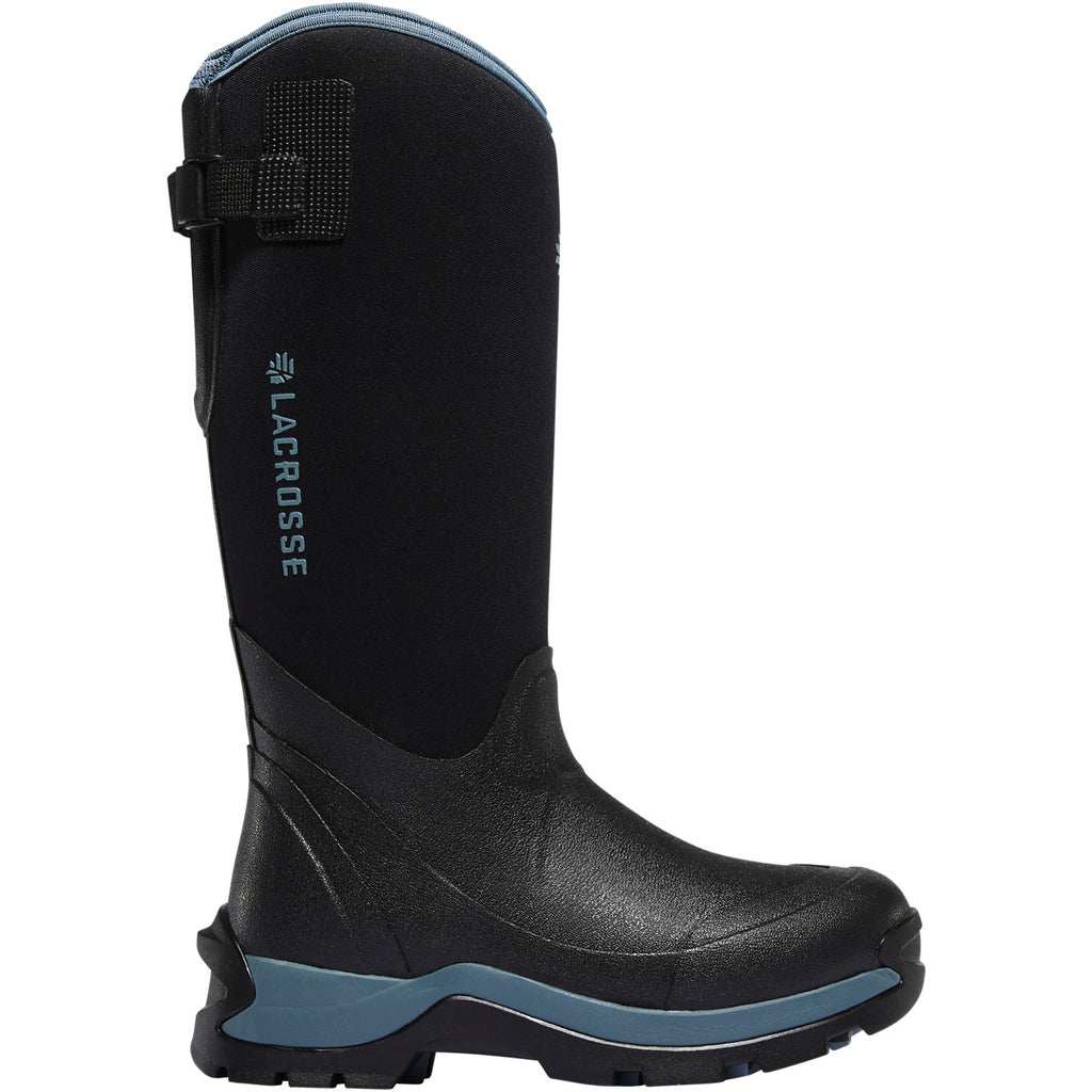 LaCrosse Women's Alpha Thermal Boots Black/Cerulean 7MM 644105 **NEW**