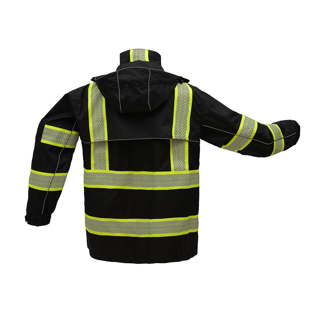 GSS SAFETY ONYX CLASS 3 RIP STOP RAIN COAT WITH TEFLON COATING