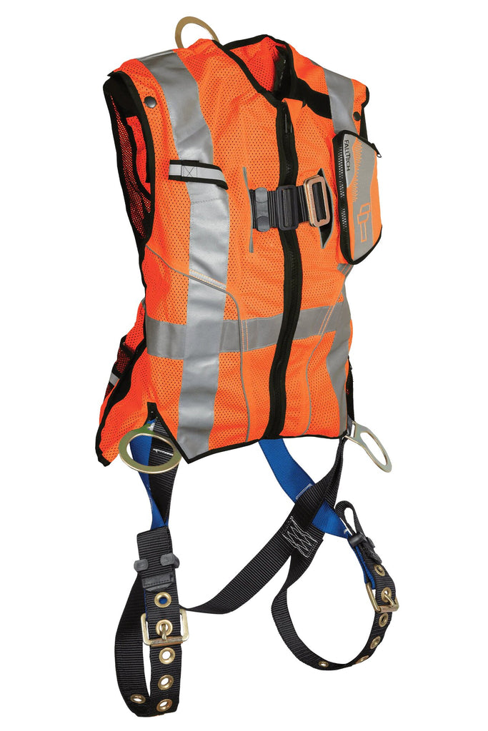 Falltech High-Vis Non-Belted Orange Vest Harness #7018 ORANGE