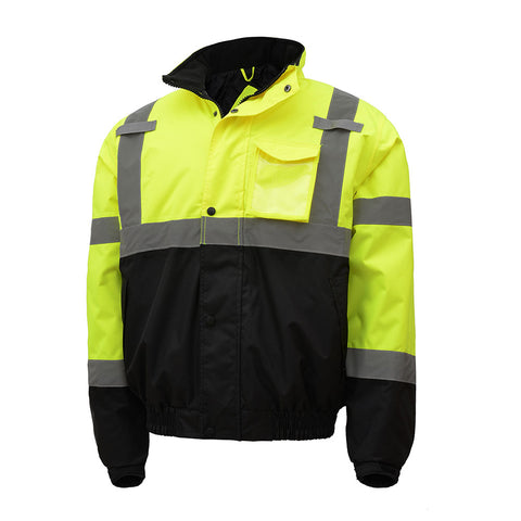 GSS SAFETY Class 3 Waterproof Bomber Jacket HVL