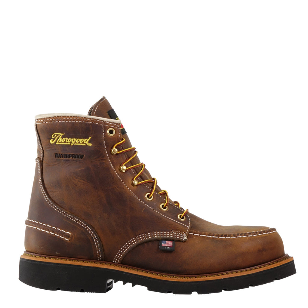 "Thorogood 1957 Series Waterproof 6"" Crazyhorse Moc Steel Toe MAXWear90 #804-3696"
