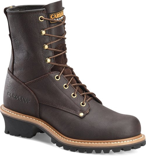 "Carolina 8"" Safety Toe Brown Logger #CA1821"