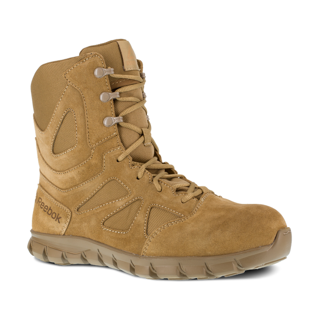 "Reebok Works Men's 8"" Tactical Boot with Side Zipper"