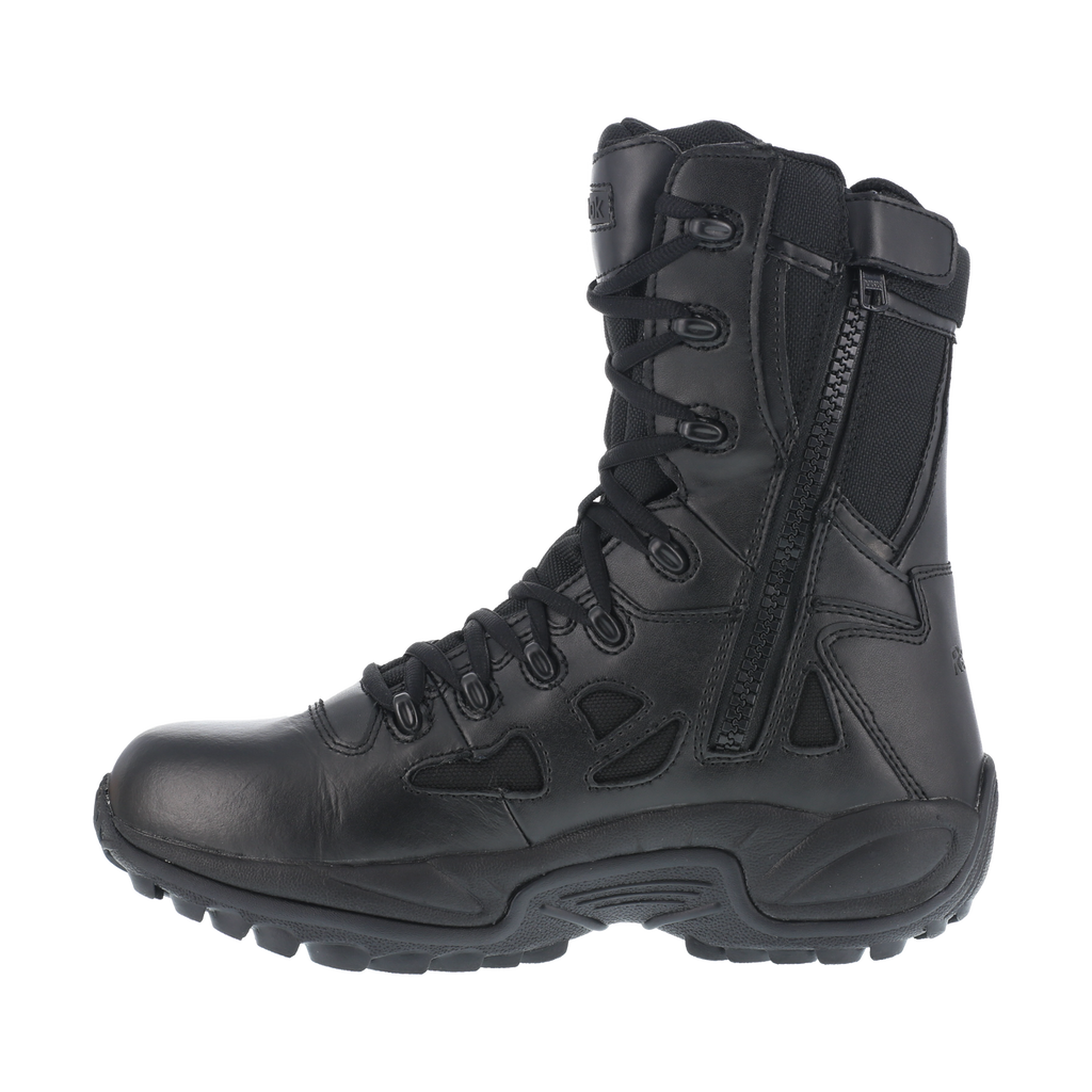 "Reebok Men's 8"" Stealth Side-Zipper Soft Toe Work Boots #RB8875"