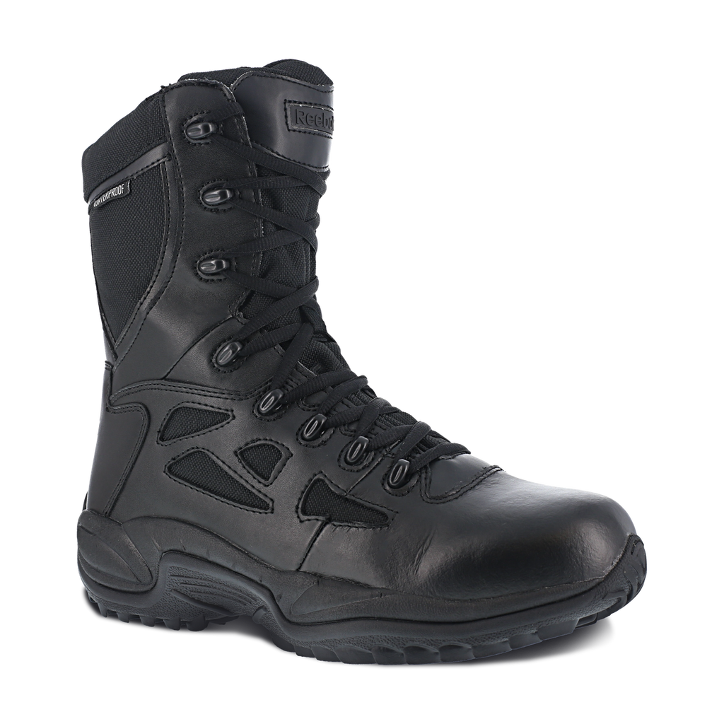 "Reebok Men's Rapid Response 8"" Side-Zip Waterproof Soft Toe Boot #RB8877"