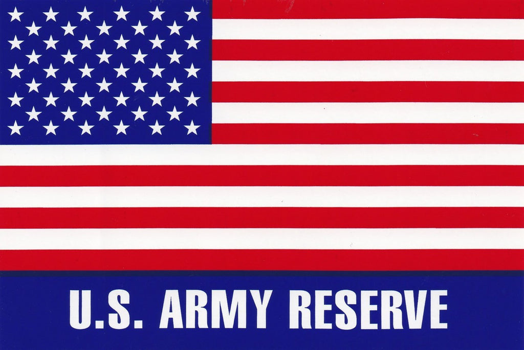'U.S. Army Reserve' Large American Flag Sticker