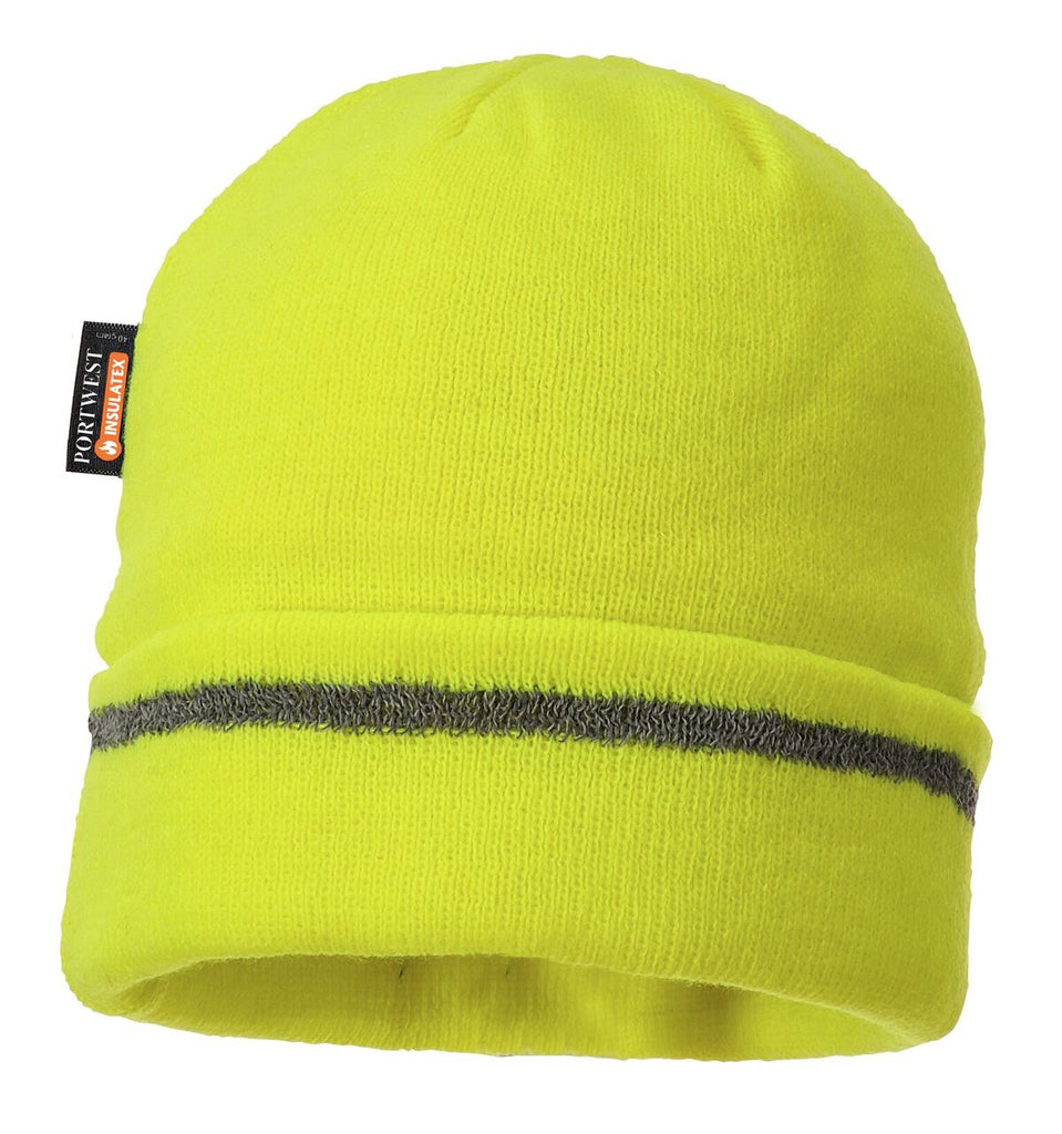 Portwest Reflective Trim Knit Cap Insulatex Lined #B023