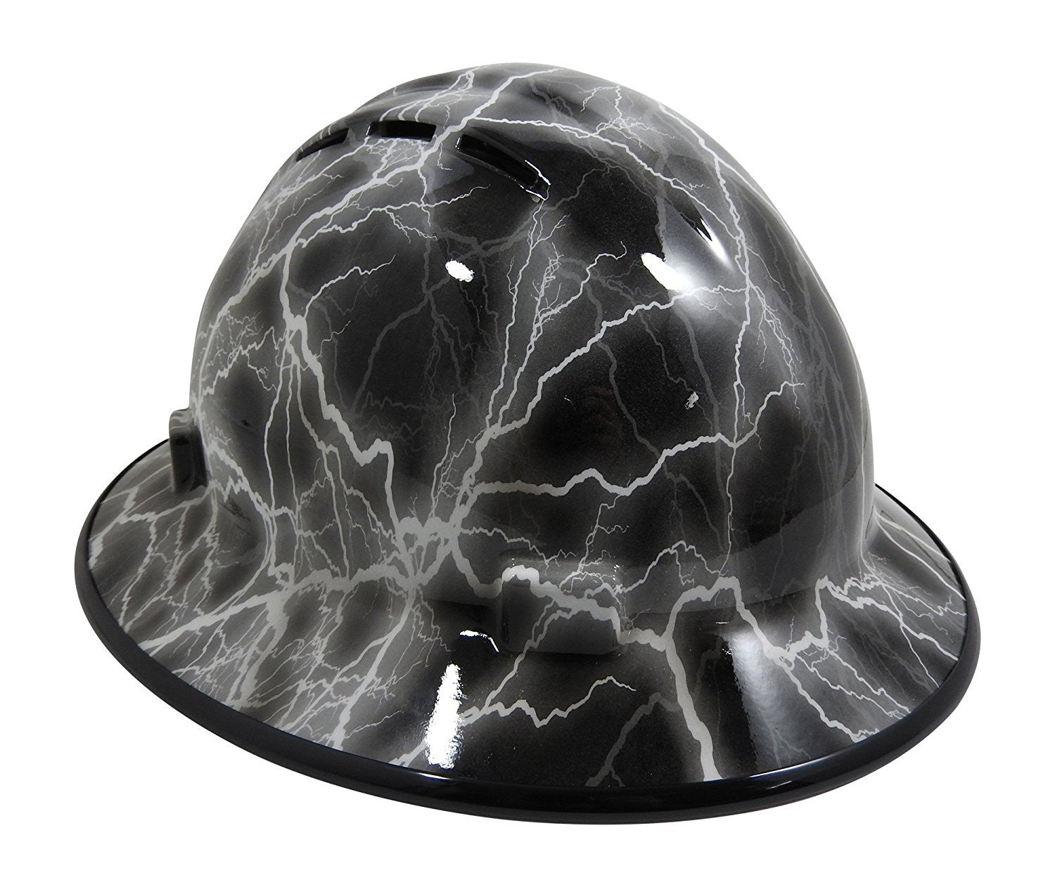 HHG Custom Vented Full Brim Hard Hat 'Lightning' – Hard Hat Gear