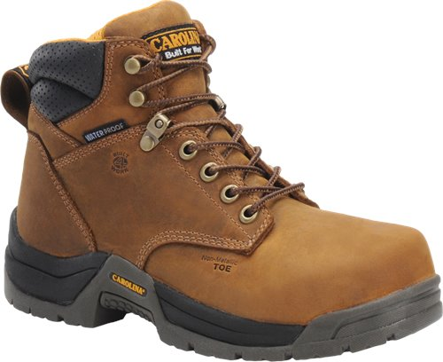 CAROLINA BROWN LEATHER LACE UP BOOT FOR WOMEN WITH SAFETY TOE
