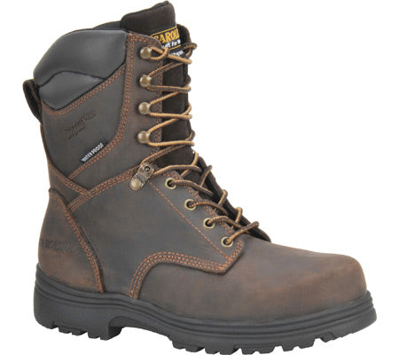 "Carolina 8"" brown leather lace up work boot"