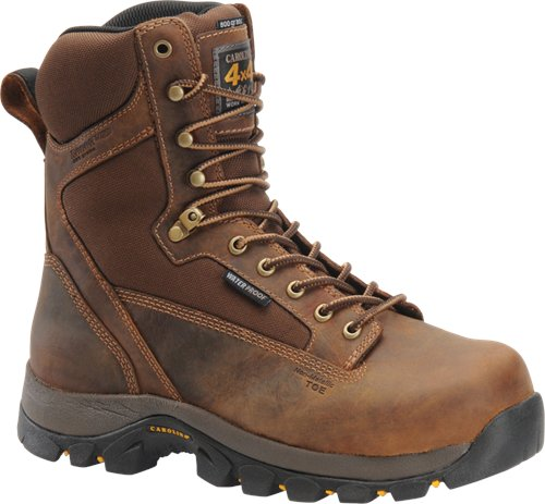 INSULATED CAROLINA BROWN LEATHER LACE UP WORK BOOT