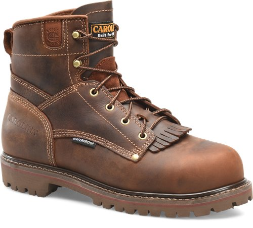 "Carolina 6"" Brown Leather Lace Up Work Boot"