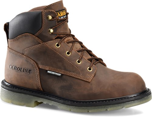 "Carolina 6"" lace up brown leather work boot"