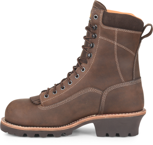 "Carolina 8"" Waterproof Comp Lace-To-Toe Logger Boot #CA7522"