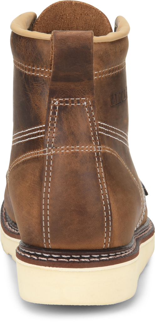 "Carolina 6"" Domestic Dark Brown ST Moc Toe Wedge Work Boot #CA7811"