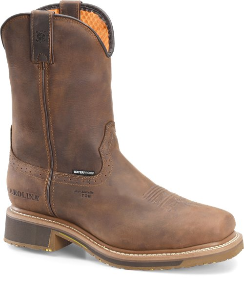 "10"" wellington/pull on square toe boot by Carolina"