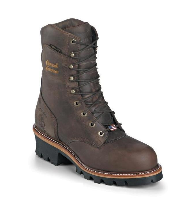 Chippewa Logger Lineman boot made in the USA safety toe waterproof