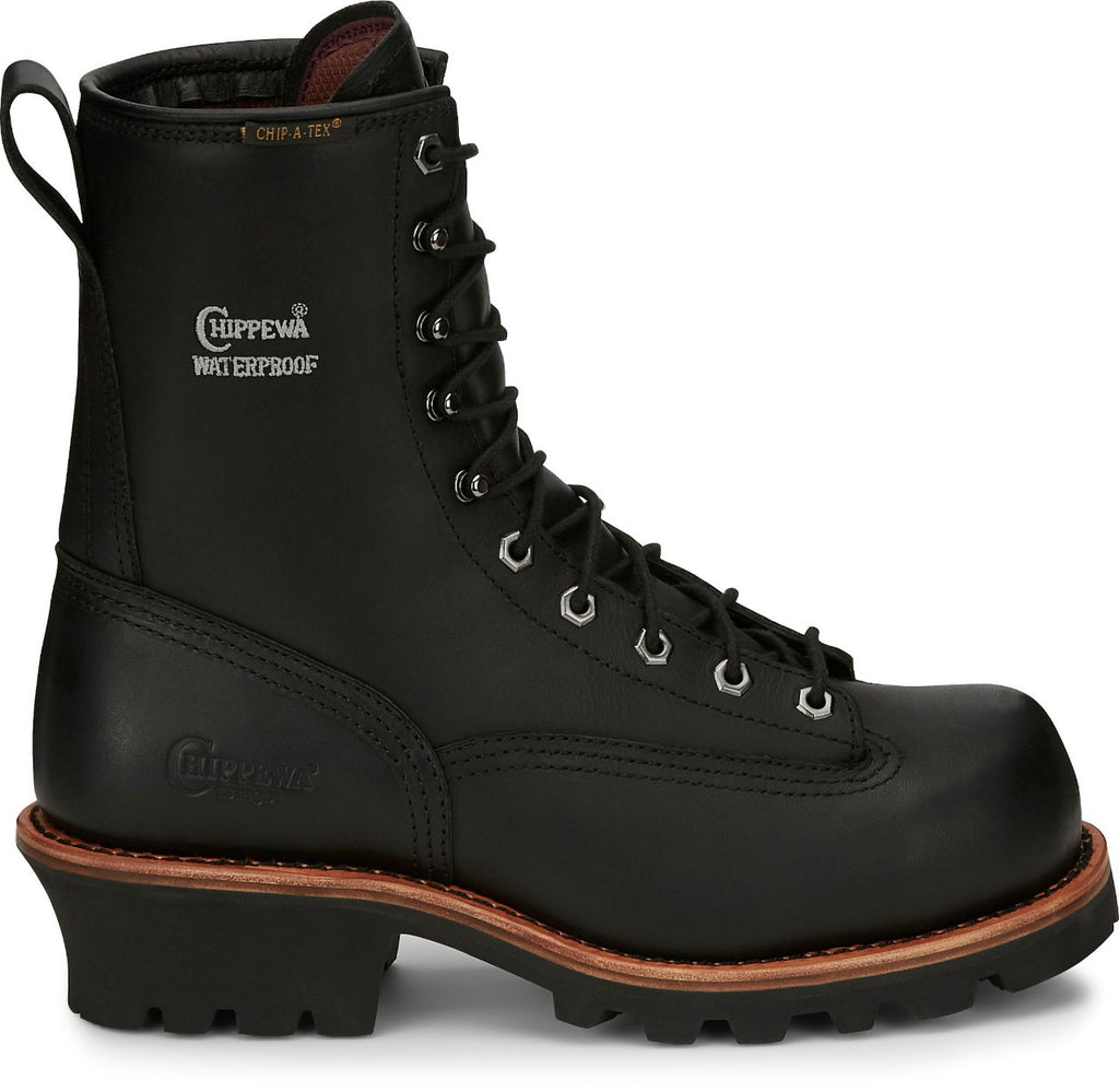 Chippewa Paladin Black Insulated Waterproof Comp. Toe Boot #73114