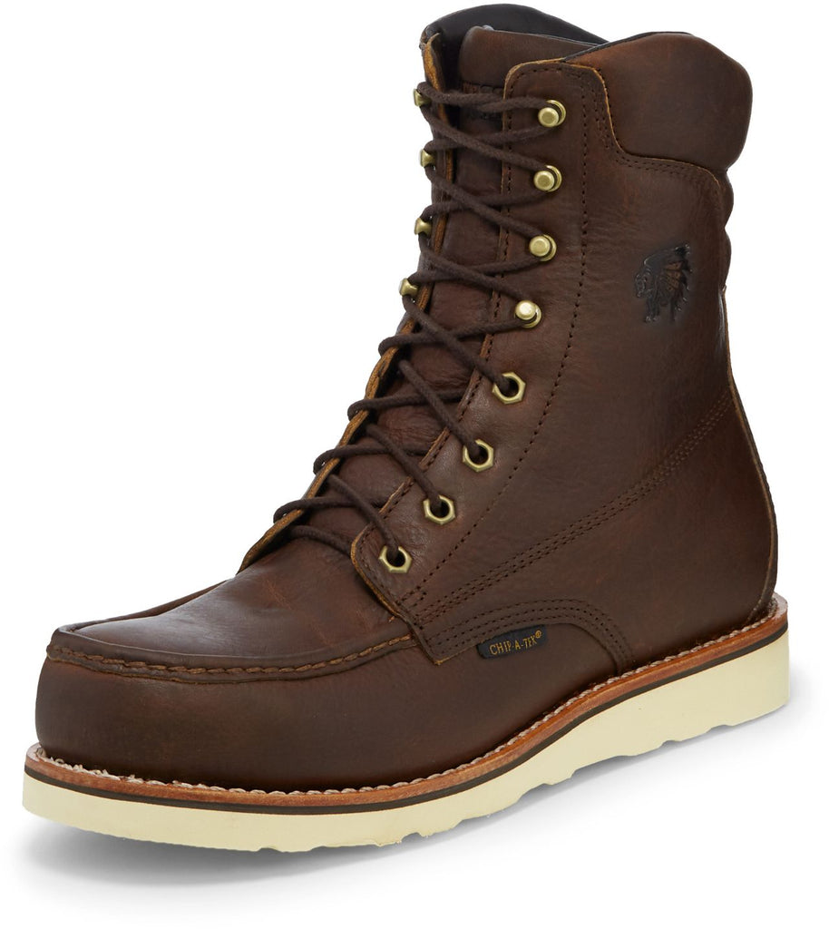 "Chippewa 8"" Edge Walker W/P Moc Toe Lace Up #25346"