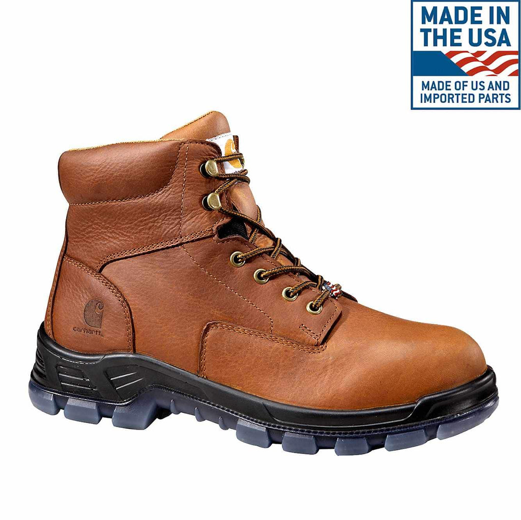 "CARHARTT AMERICAN MADE 6"" COMP TOE WORK BOOTS #CMZ6340"