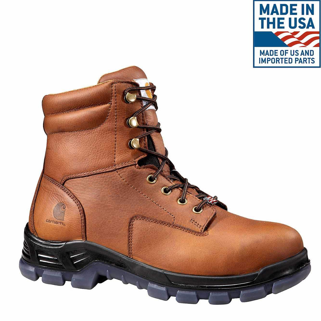 "CARHARTT AMERICAN MADE 8"" COMP TOE WORK BOOTS"