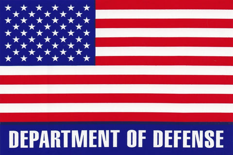'Department of Defense' Large American Flag Sticker