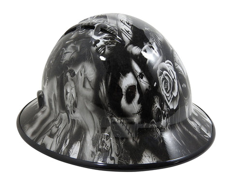 93b62407c17 HHG Custom Vented Full Brim Hard Hat  Day Of The Dead