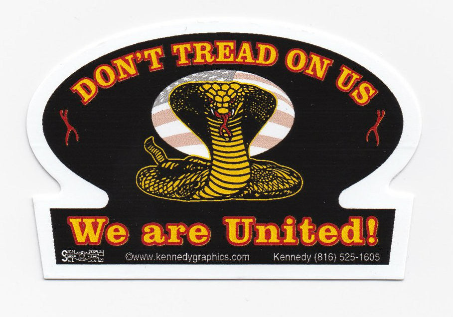 'Don't Tread On Us' Union Hard Hat Sticker  S-08