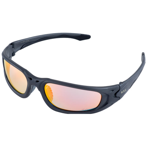 ERB One Nation Exile Gray Revo Gold Mirror Safety Glasses #18018
