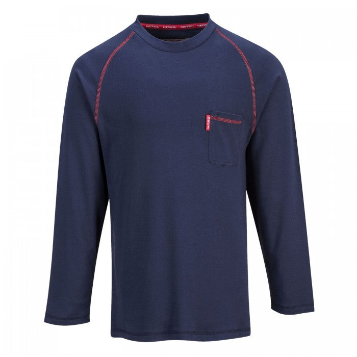 Portwest Biz-Flame Navy Crew Neck T-Shirt #FR01