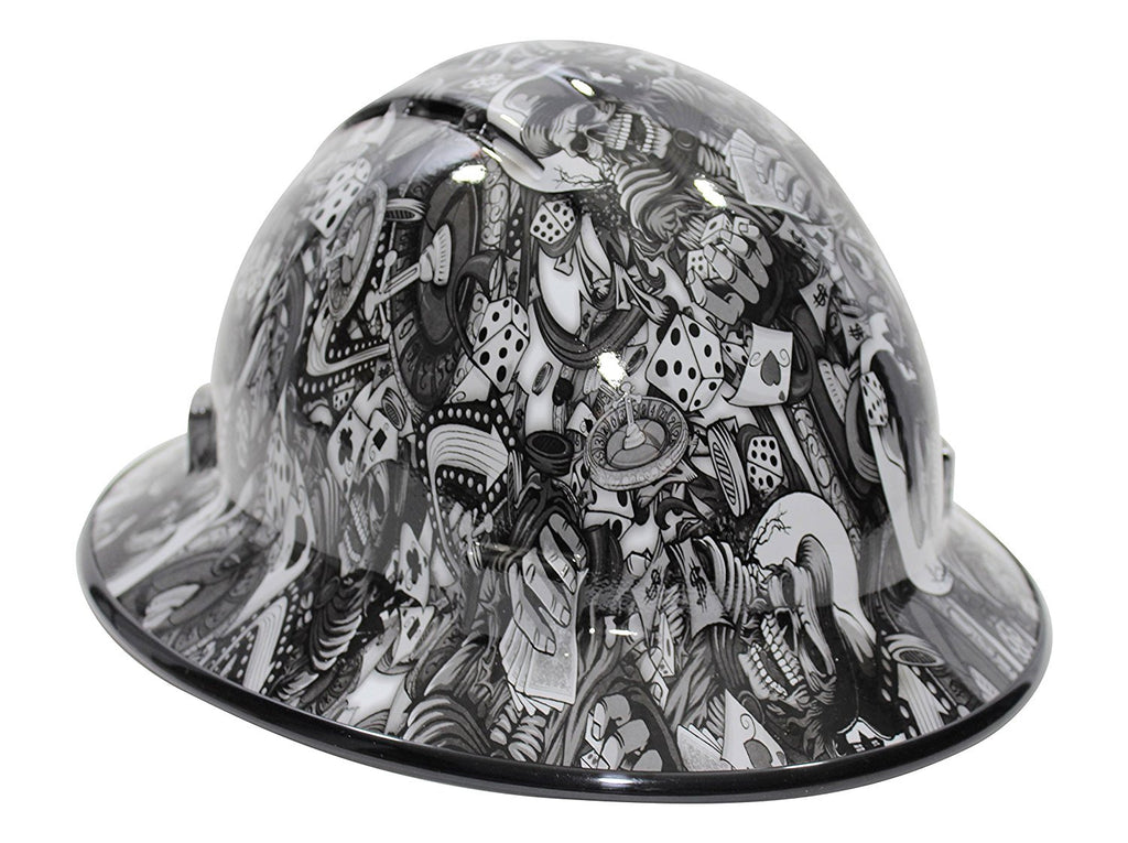 Hhg Custom Vented Full Brim Hard Hat Gambling Ghouls