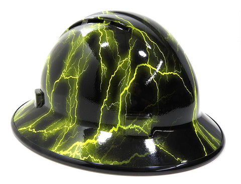 d7c2fd6d28f HHG Custom Vented Full Brim Hard Hat  Lightning  – Hard Hat Gear