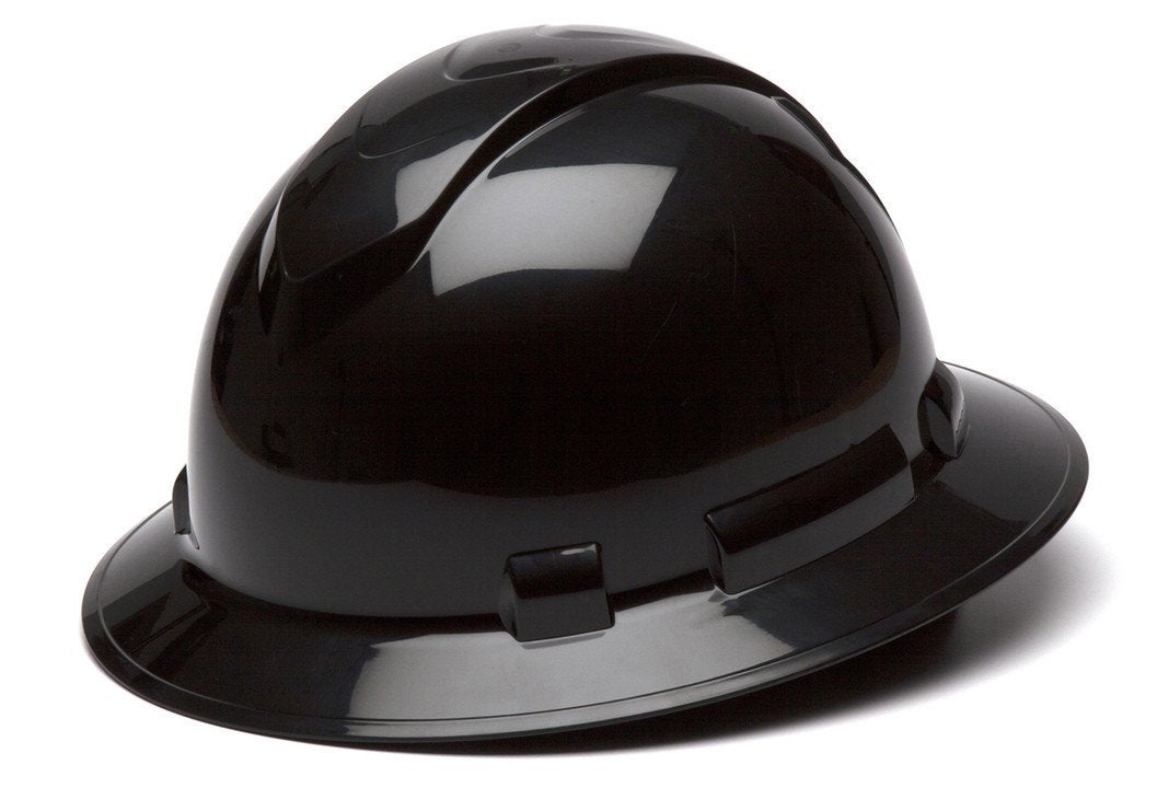 Pyramex Ridgeline Full Brim Hard Hat HP54113 Gray 4 Point Ratchet Suspension