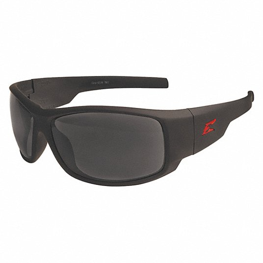 Edge Eyewear Caraz Matte Black Frame w/ Smoke Lens Safety Glasses HZ136