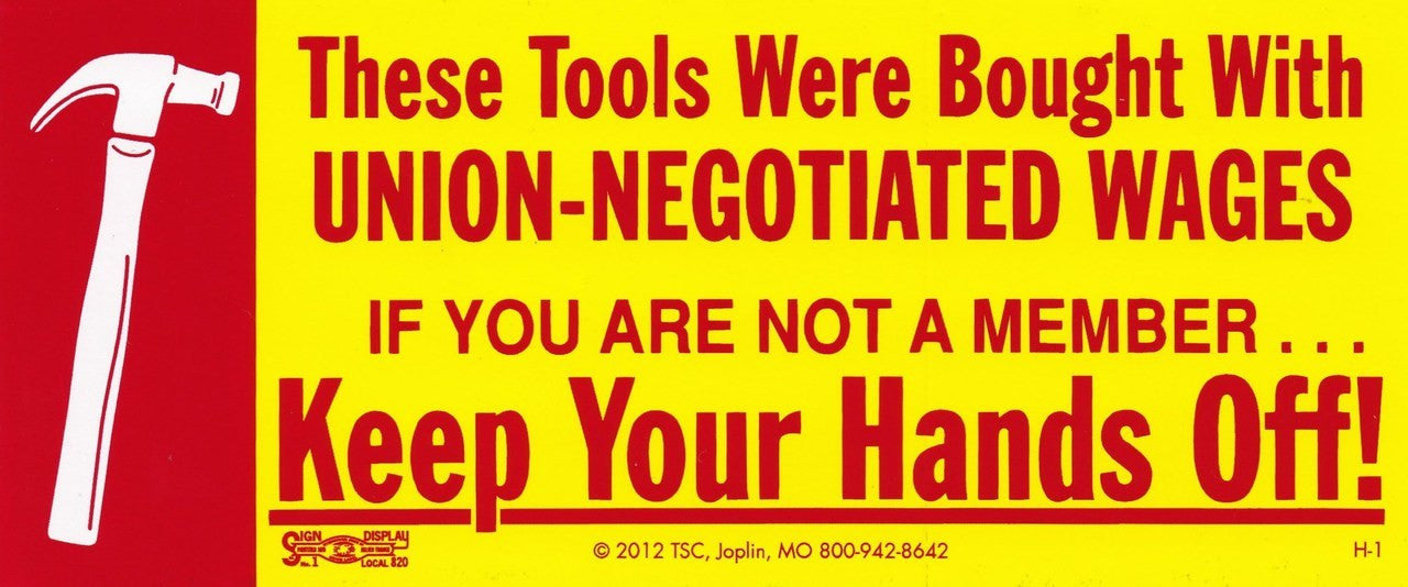 Keep Your Hands Off W Hammer Toolbox Decal Hard Hat Gear