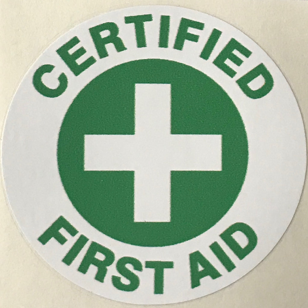 CERTIFIED FIRST AID WITH CROSS HARD HAT MARKER HM-17