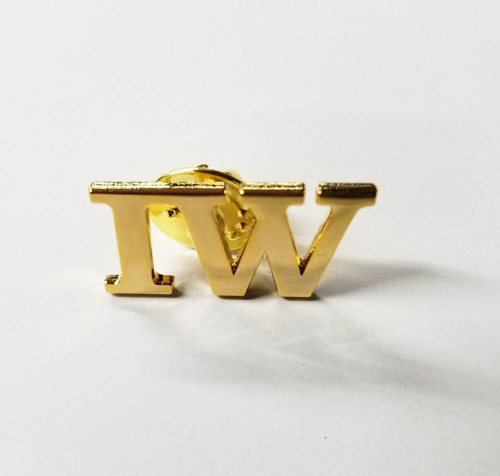 Ironworker 'IW' Gold Plated Lapel/ Hat Pin