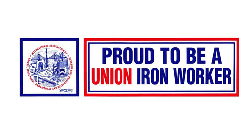 'Proud to be Union Ironworker' Hard Hat Sticker #M16