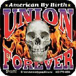 Union for ever hard hat sticker