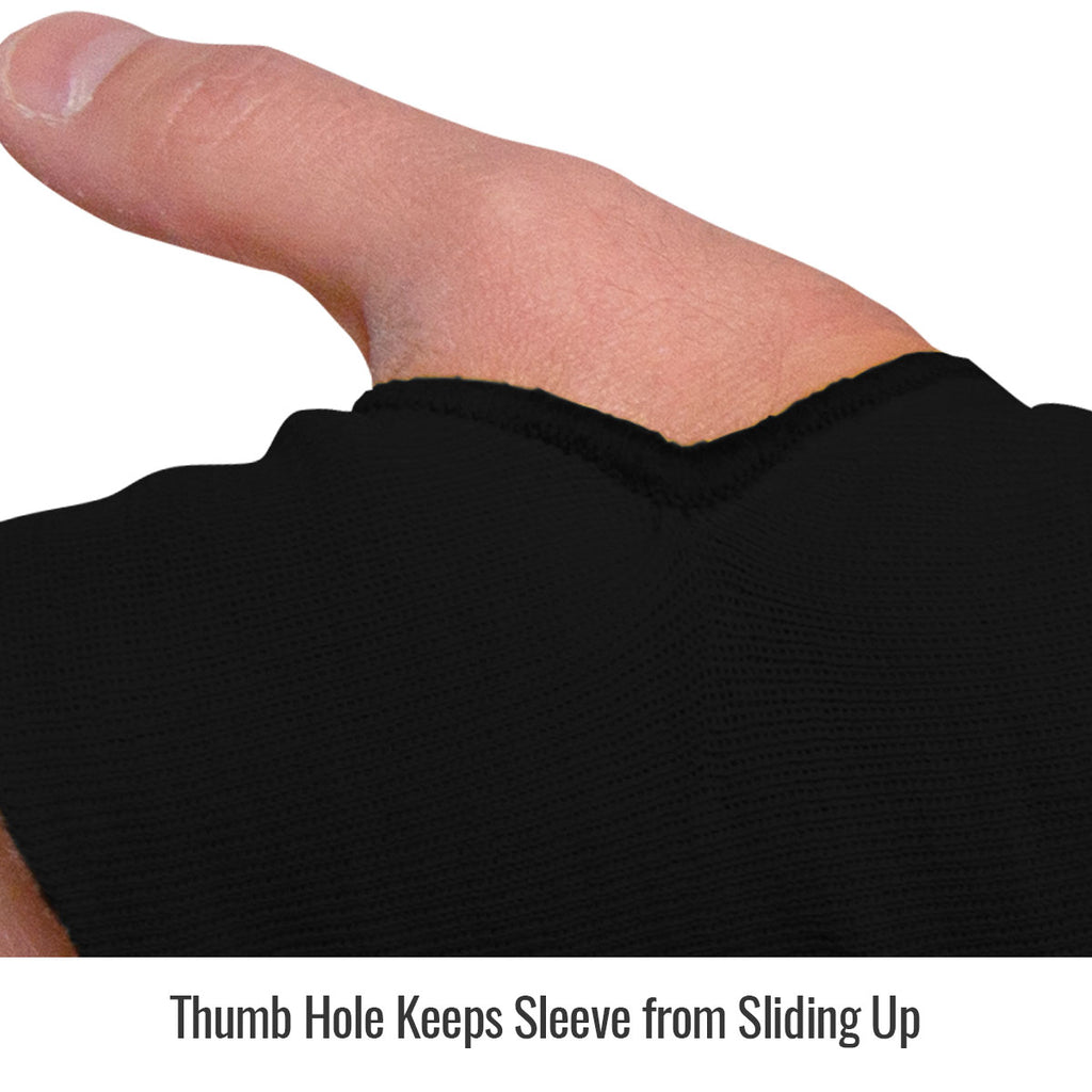 Black Stallion DuPont™ Kevlar® Knit A3 Cut-Resistant 18 Inch Sleeves with Thumb Slot, Black