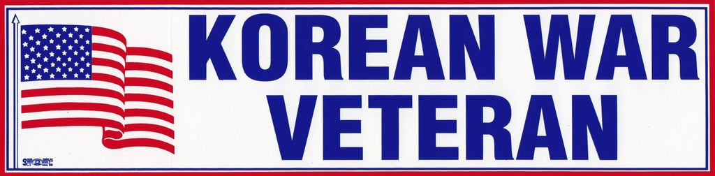 Korean War Veteran Bumper Sticker