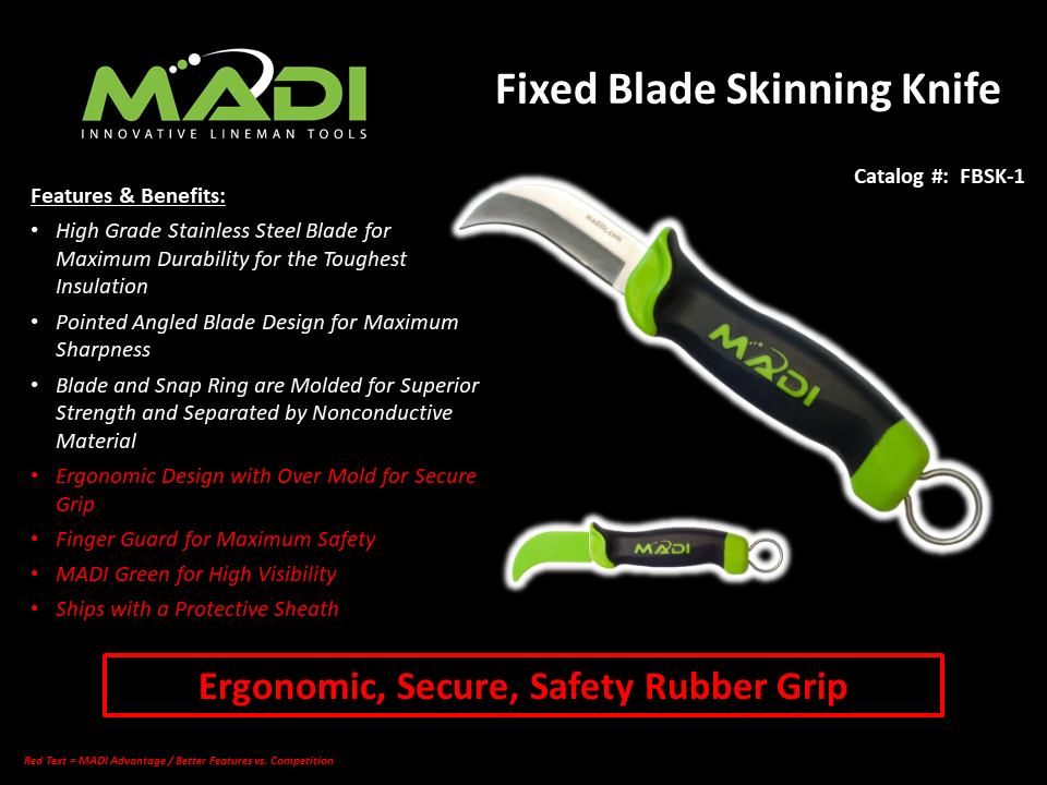 MADI Fixed Blade Skinning Knife FBSK-1