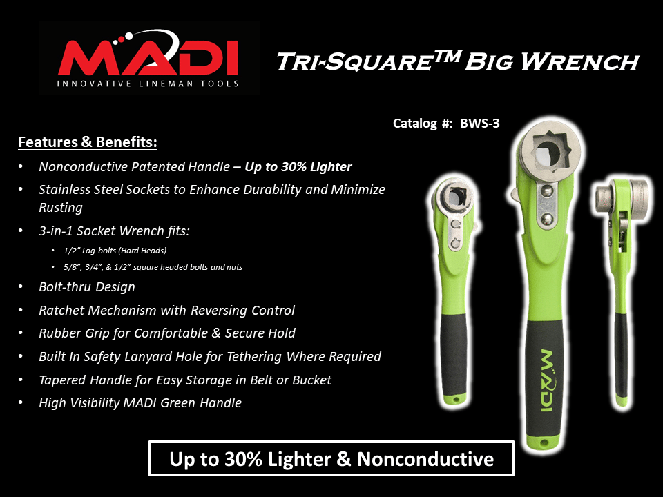 MADI Tri-Square Big Wrench 3 in 1 Socket