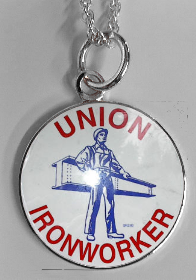 Ironworker Man on Beam Necklace