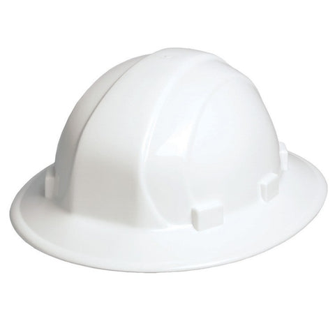 ERB OMEGA II FULL BRIM HARD HAT WITH RACHET SUSPENSION