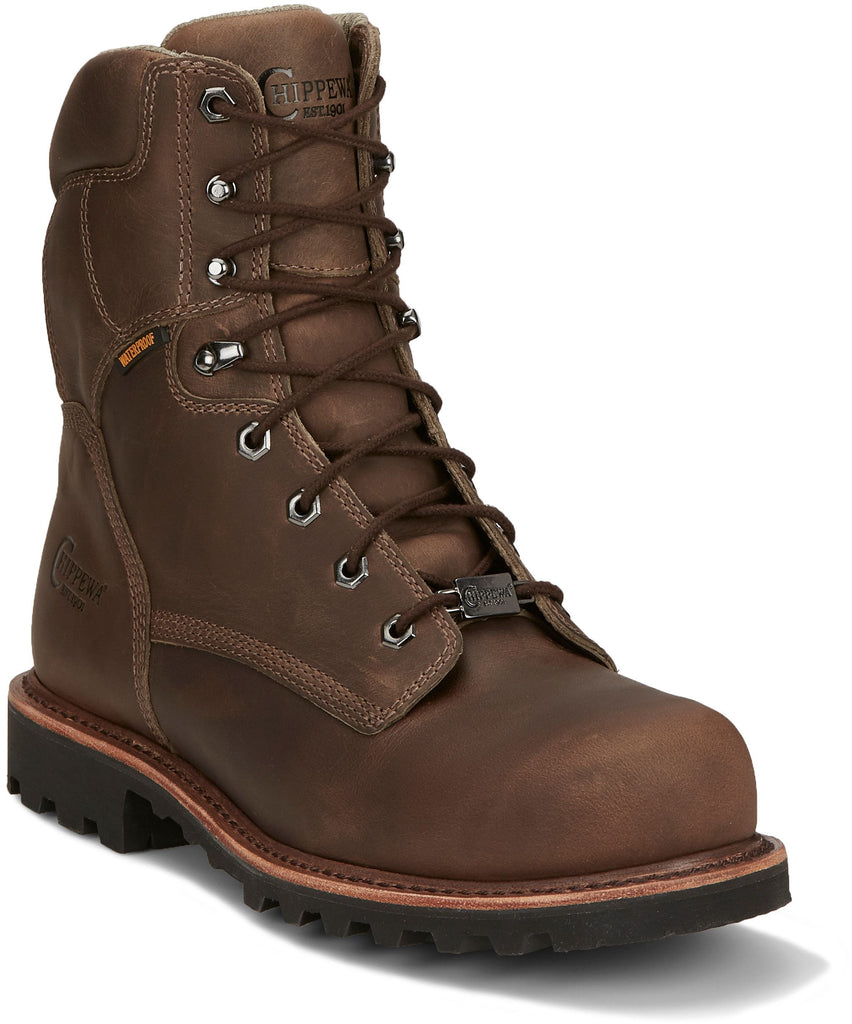"Chippewa Bolville 8"" Men's Waterproof Nano Comp Toe Work Boot ""NEW RELEASE"""