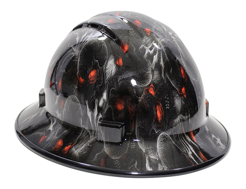 Hhg Custom Vented Full Brim Hard Hat Red Eyes 3hhg Re V