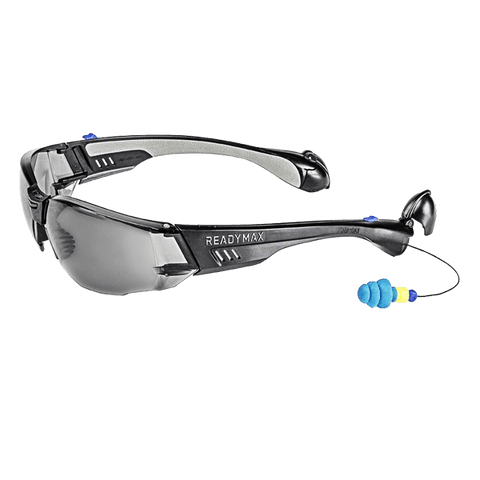 ReadyMax Soundshield Construction Smoke Anti-Fog Safety Glasses #GLCNB-GR
