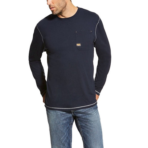 Ariat Rebar Stain Release Long Sleeve Crew 2nds