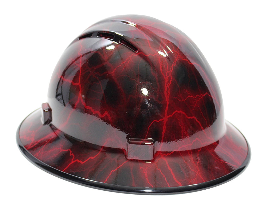 Hhg Custom Vented Full Brim Hard Hat Lightning Hard
